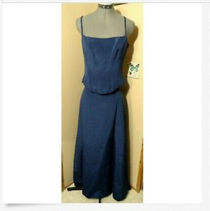 2pc AFTER SIX Formal Dress Set 6 Midnigh Blue Maxi